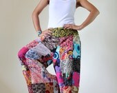Wide Leg Pants Boho Patchwork  : Boho Patchwork Pants Collection II