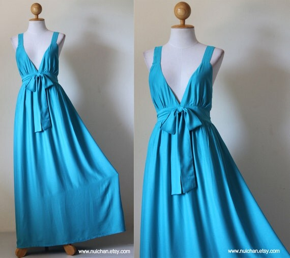 Gorgeous Elegant V-styled Neck Bridesmaid Evening Maxi Dress : Love Party Collection