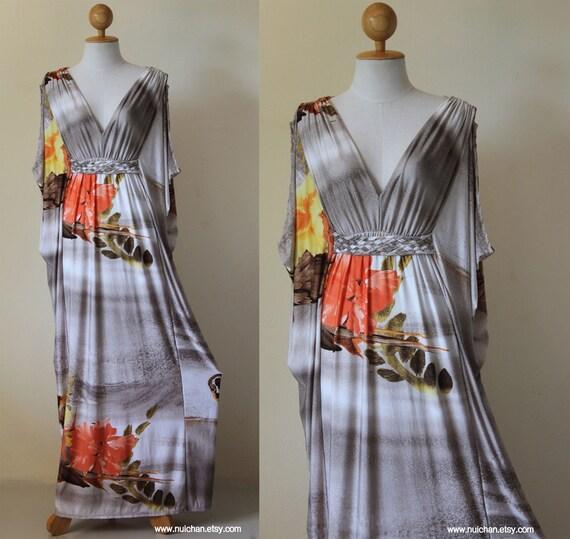 Long Funky Kimono Butterfly Tube Maxi Dress: Elegant Collection