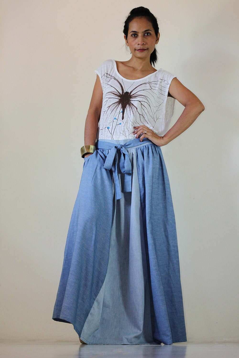 Maxi skirt denim – The most popular models skirts