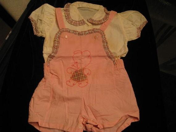Vintage Child's Cotton Sunsuit / Romper great for pattern