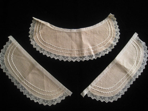 Vintage Linen and Lace Collar and Cuffs
