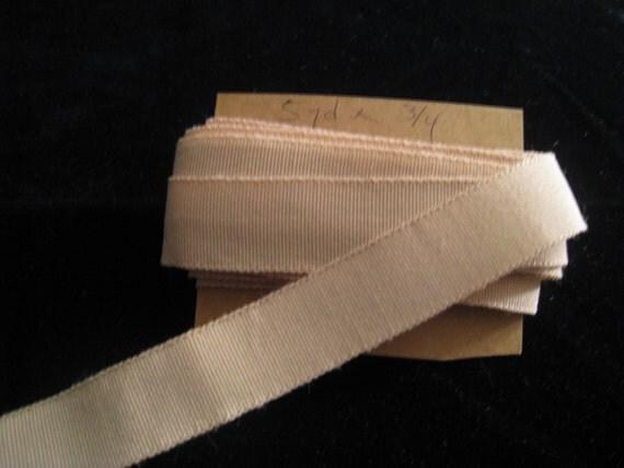 Vintage Beige / Peach Grosgrain Ribbon