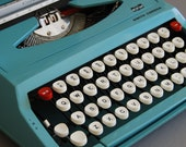 Smith Corona Corsair Baby Blue Manual Typewriter