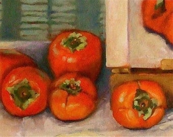 Persimmons painting • Oil Painting • Original Art • Oil Paintings • Daily Painters • Daily Painting • Persimmons