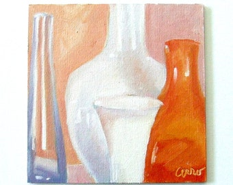 White Vases • Oil Paintings • Daily Paintings • Original Art • Oil Painting • Daily Painter • Daily Painting
