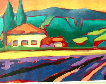 Original Art • Acrylic Paintings • Daily Painters • Daily Painting • Abstract • Tuscany