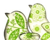 Bird embellishments . scrapbooking . lime green embossed designer paper . spring . 3D . dove . freedom . easter
