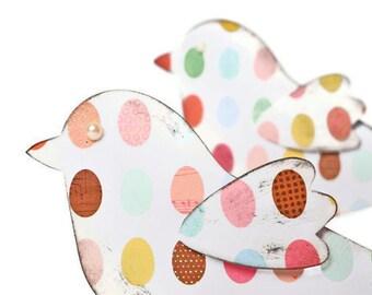 Easter Egg Paper Bird Scrapbook Embellishment. Card Making - Gift Topper. Welcome Spring Love Birds. Paper Craft supplies. Paper Banner