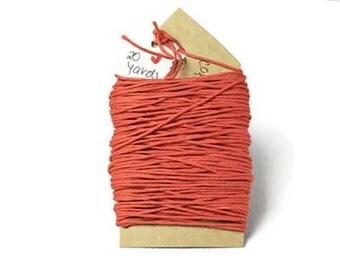 Colored tangerine hemp fiber cord 100% natural 20 yards. Orange string gift wrap ties supplies   Gift Wrap natural hemp twine Christmas
