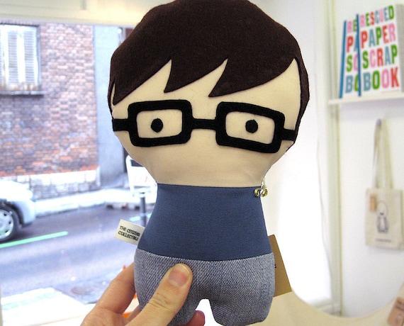 Personalized Stuffed Fabric Doll