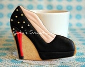 Shoe Cookies-Fashion Cookies-Black-Gift for Bridesmaid-Party Favor Birthday-Bridal Shower Favors