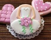 Bridesmaid Gifts - Bridal Shower Favors - Wedding Favors - Edible Wedding Favors - Wedding Dress Cookies
