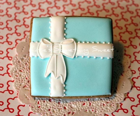 Wedding Favor Boxes For Cookies : Wedding Cookies-Tiffany Gift Box Cookies-Edible Wedding Favors-Wedding ...