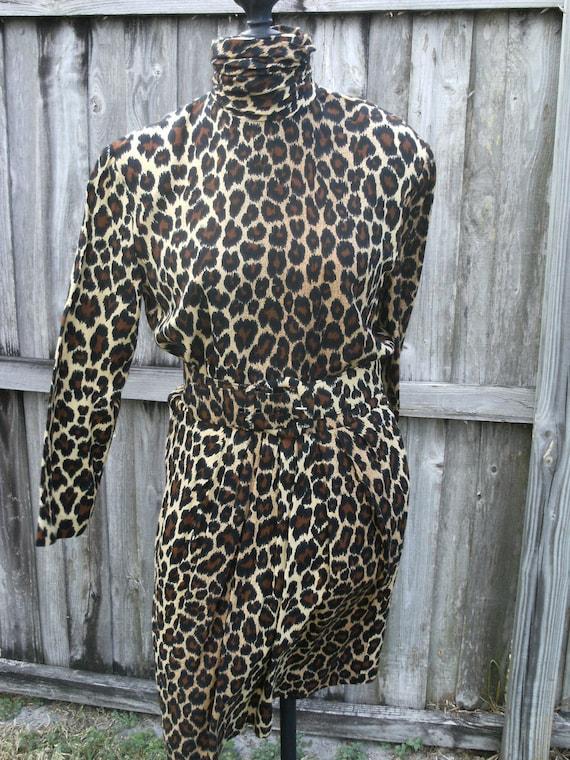 Vintage Ronnie Heller Animal Print Dress