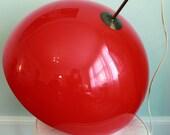 Large, Vintage, Mid Century Plastic Swag Globe Lamp