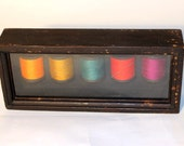 Neon Sewing Spools With Needle Wall Hanging Picture