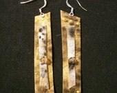 Light Leather Dangle Earrings
