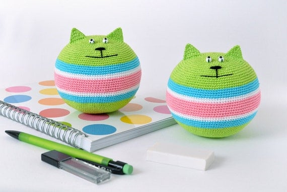 Crocheting Relieves Stress : Stress relief cat crochet amigurumi price for one by sashakulakova
