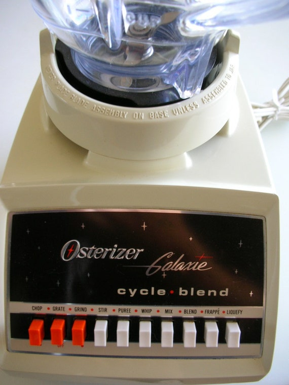 Vintage Osterizer Galaxie Cycle Blend 10 Speed Blender With