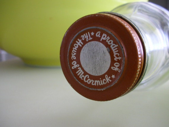 vintage glass rolling pin 1940s mccormick advertising pristine