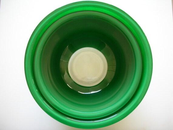 Vintage Pyrex Mixing Bowls Clear Bottom Pyrex Kelly Green