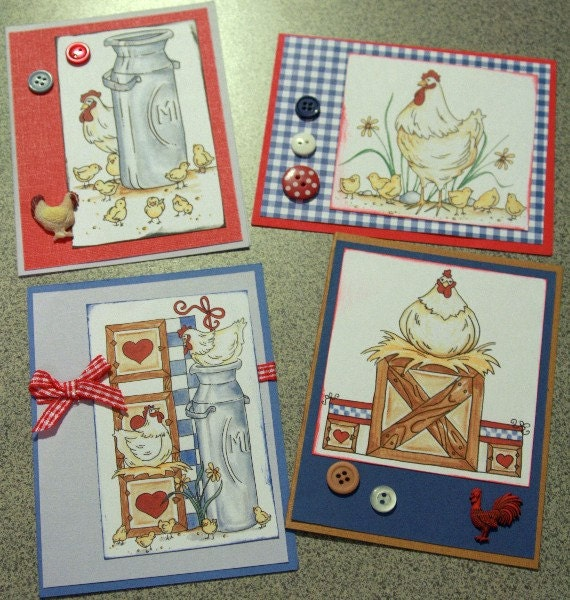 Hen House Cards - Set of Four 20120089