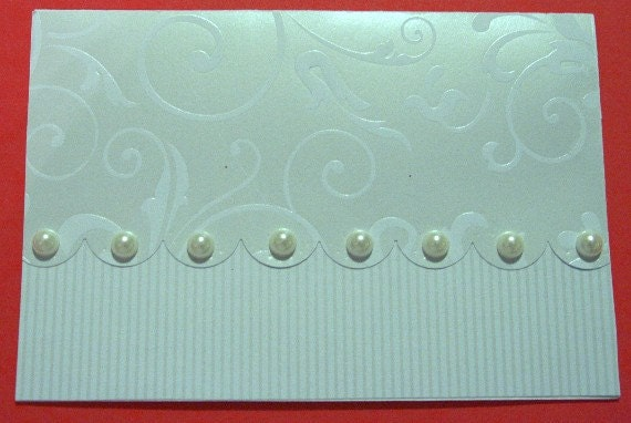 Wedding or Shower Card Embellished with Pearls 20120209
