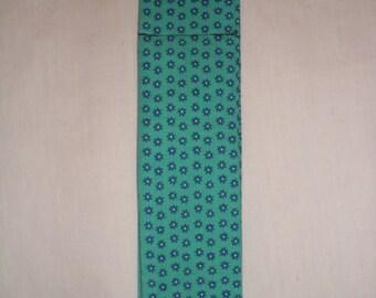 Cooling Neck Band- 93 Blue Flower Print on Teal