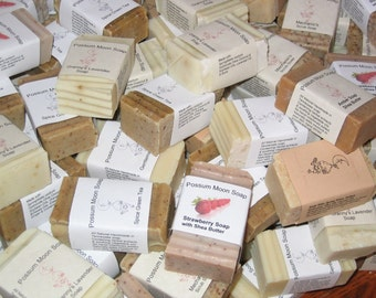 Handmade All Natural Soap Handcrafted 5 bars plus bonus