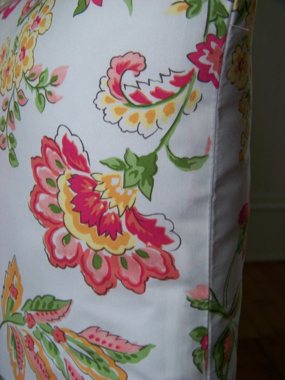 """RESERVED-18"""" by 18"""" Pillow Cover With Beautiful Vibrant Colored Floral Print"""