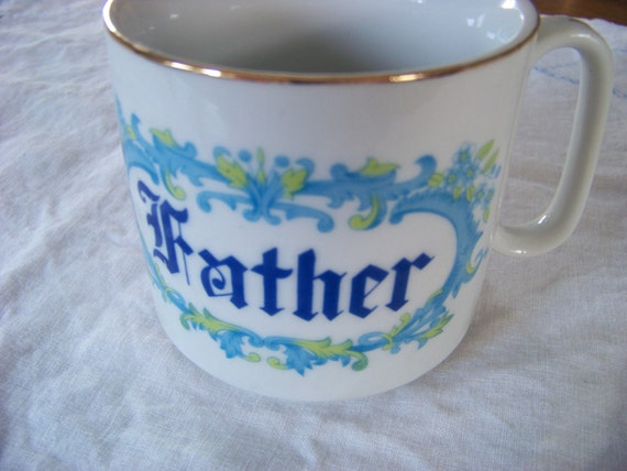 Vintage Father Mug / Dad Mug / Coffee Cup
