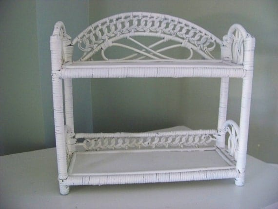 Reserved Vintage Wicker Wall Shelf Shabby Chic Home Decor