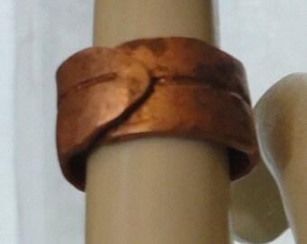 Copper Olive Leaf Ring