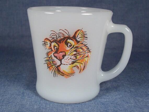 Vintage Esso Tiger FireKing Coffee Mug 1960s