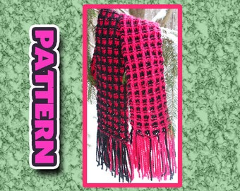 PDF two color KNIT SCARF Pattern/ quick knit super soft easy knit pattern
