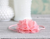The TESS Headband in Pink - Perfect Flower Head Band for Newborn, babies, girls - Photography Prop