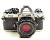 Fast Pro caliber Nikon FM2n with 1/250 flash sync with free lens