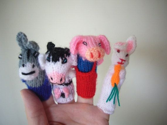 knit animal finger puppets set of 7.Get 15% off with coupon HAPPYMUSING.