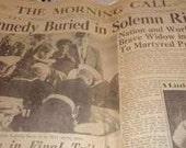 John F Kennedy Funeral The Morning Call newspaper November 26th, 1963