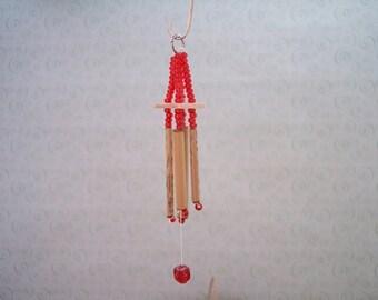 miniature wind chime 1 inch scale