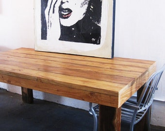 Items similar to casanova rectangular recycled douglas for Where to buy reclaimed wood los angeles