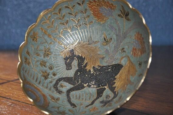 Vintage Unicorn Bowl late 1950s