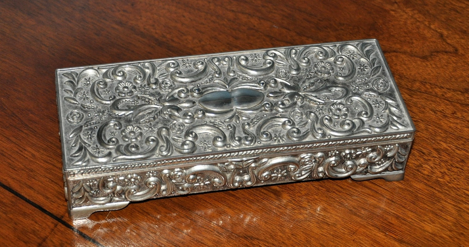 Vintage Jewelry Box made by GODINGER SILVER CO.