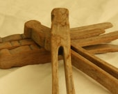 Wood Clothespins - Vintage Laundry Collectibles - Clothes Pegs