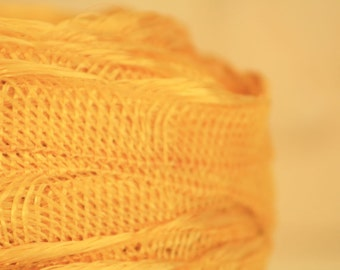 Vintage Millinery Supplies - Hat Making Trim - Yellow Woven Hat Trim - New/Old Store Stock