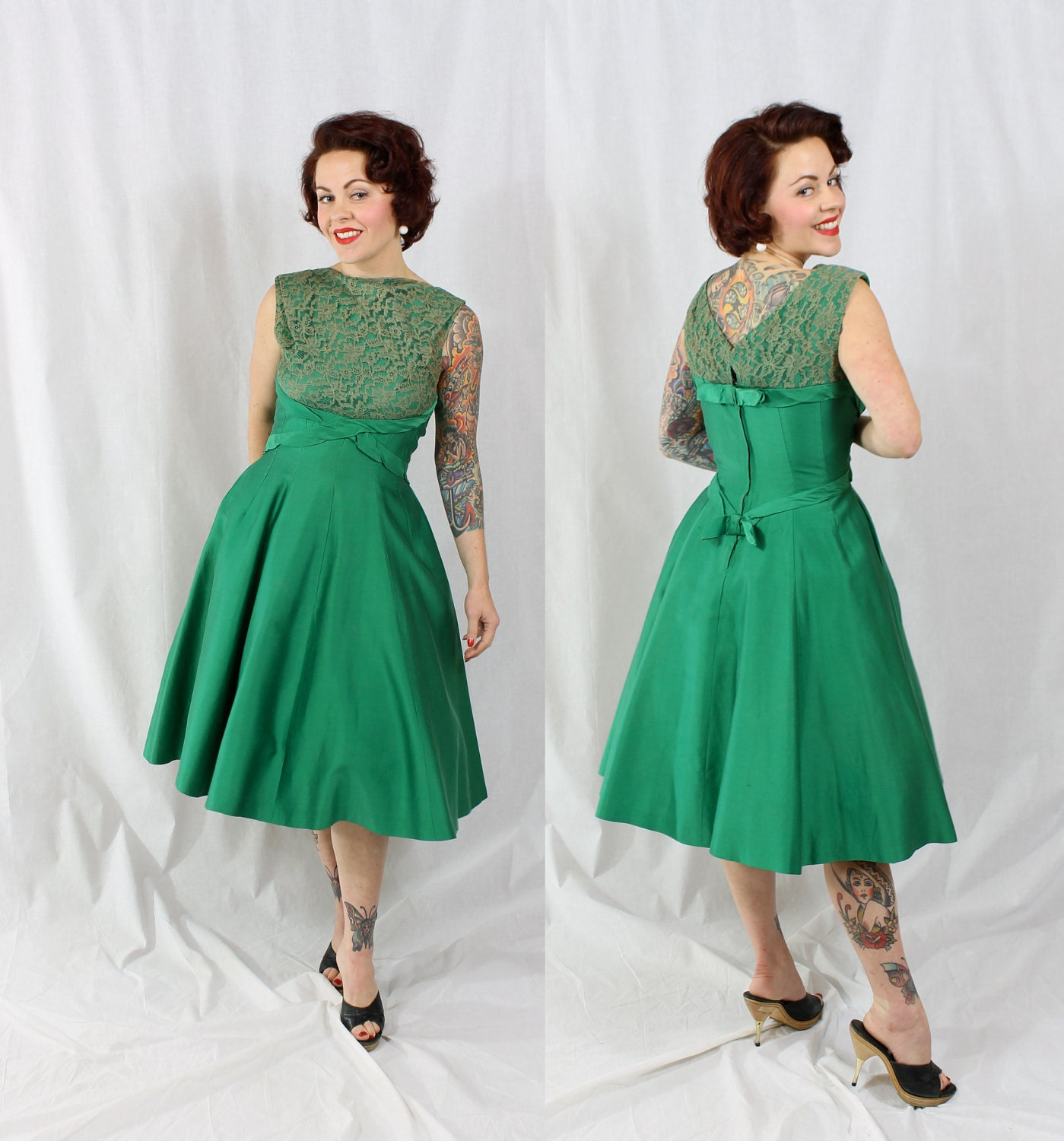 1950s Vintage Dress...YOUNG AT HEART Holiday by SimplyVintageCo