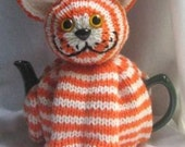 Cat Tea Cosy - KNITTING PATTERN - pdf file by automatic download