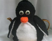 Penguin Tea Cosy and Toy Penguin - KNITTING PATTERN - pdf file by automatic download