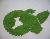 Crocodile Scarf  - KNITTING PATTERN - pdf file by automatic download